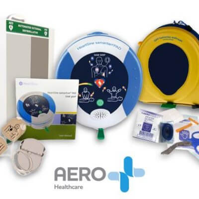 HeartSine AED cabinet Package