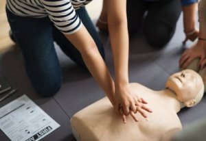 Person practising CPR