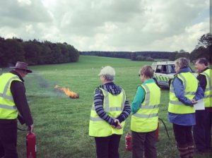 Fire safety Training in field