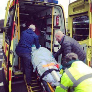 FREC training into ambulance