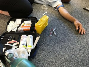 Cornwall Training Drugs Course set up