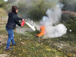 Fire safety Training Extinguisher use